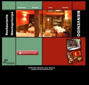web restaurante monteprincipe 2013