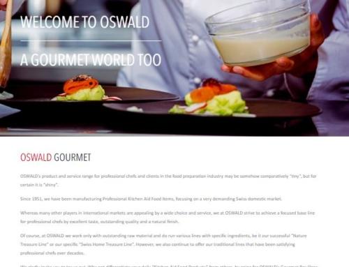 Lanzamos nueva página web para el mundo gourmet de Oswald