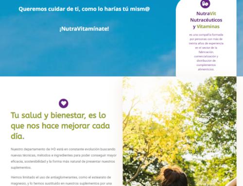 Lanzamos nueva página web para NutraVit